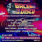 """2021.7.31(土)23:00- GABBERDISCO PRESENTS """"BACK TO THE DISCO""""にDJ SHARPNEL出演"""