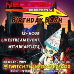 2021.3.6(Sat)年に1度のNeodash祭り!NEODASH ZEROX BRITHDAY BASHにDJ SHAPRNEL出演