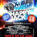 2013/10/14(月曜日) : DJ SHARPNEL on X-TREME HARD VS HAPPY JACK @渋谷R-Rounge(元Rockwest)