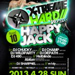 2013/04/28(日曜日) : DJ SHARPNEL on X-TREME HARD VS HAPPY JACK @渋谷R-Rounge(元Rockwest)
